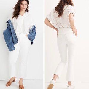"New NWT Madewell white jeans petite plus 22 36"""